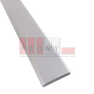 Hliníkové plotovky ploché s rádiusem - 78x19 mm