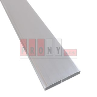 Hliníkové plotovky ploché s rádiusem - 98×19 mm
