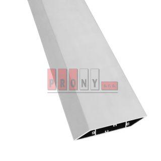 Hliníkové plotovky šikmé s kotvícími kanálky – 108×16 mm
