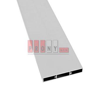 Hliníkové plotovky ploché s kotvícími kanálky – 100×16 mm