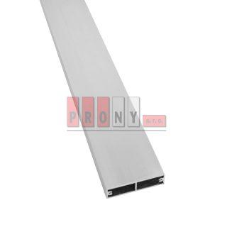 Hliníkové plotovky ploché s kotvícími kanálky – 60×16 mm