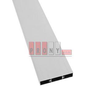 Hliníkové plotovky ploché s kotvícími kanálky – 80×16 mm